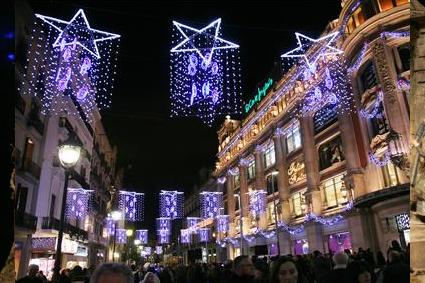 Luces de colores navideñas