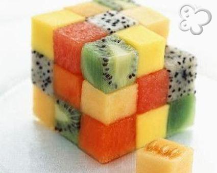 Fruta en dados