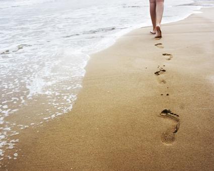 Caminar sobre la playa