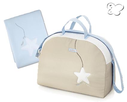 bolso maternal y mantita