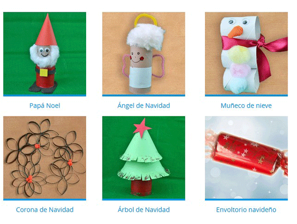 Navidad con ni os blog de - Decoracion con rollos de papel higienico ...