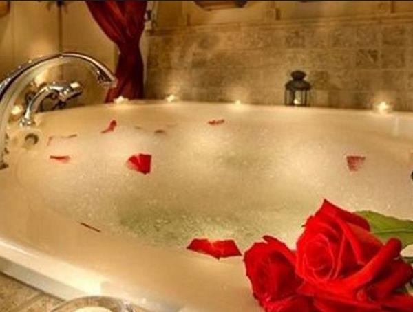 Baño enamorados