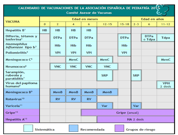 Calendario-vacunación